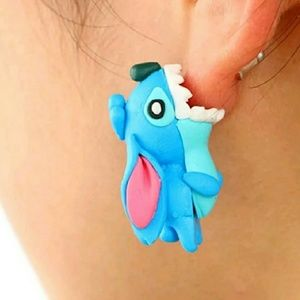 Handmade Polymer Clay Disney Stitch Earrings
